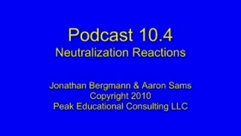 Thumbnail for entry Chem AcidBase4 Neutralization Reactions