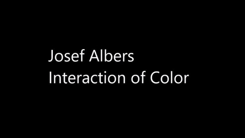 Thumbnail for entry Josef Albers Interaction of Color (Week of 1.4.20)