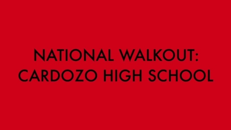 Thumbnail for entry Students Walking Out to Stand Up for School Safety