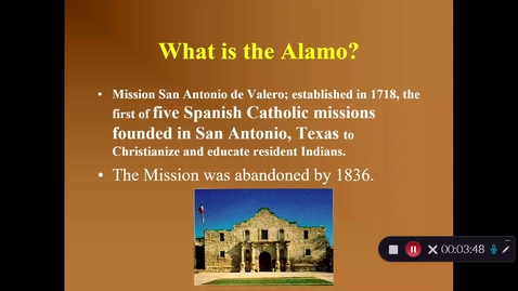 Thumbnail for entry Alamo and Texas War for Independence