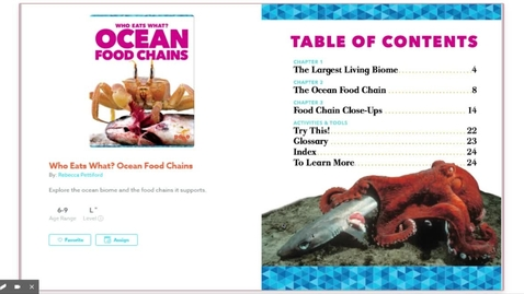 Thumbnail for entry Who Eats What? Ocean Food Chains