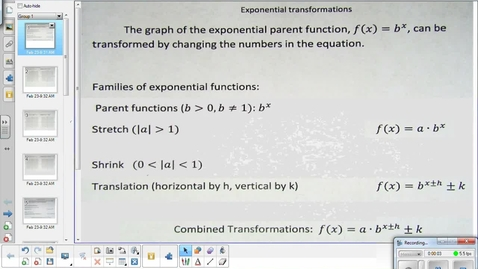 Thumbnail for entry Exponential transformations lesson  2-23-15