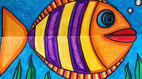Thumbnail for entry Mrs. Griffin's 2nd Grade Fish Art Project