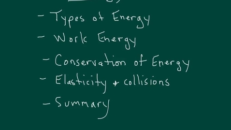 Thumbnail for entry Energy and its conservation