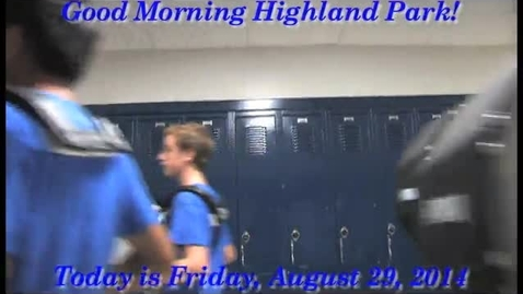 Thumbnail for entry Friday, August 29, 2014