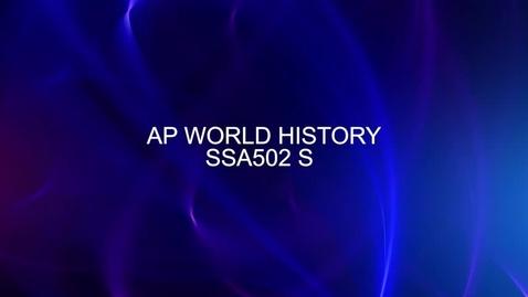 Thumbnail for entry Course Catalog Shoot AP World History