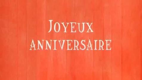 Thumbnail for entry Joyeux anniversaire