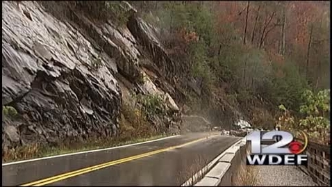 Thumbnail for entry CAUGHT ON CAMERA: Rock Slide Closes TN Highway 64 in Polk Co
