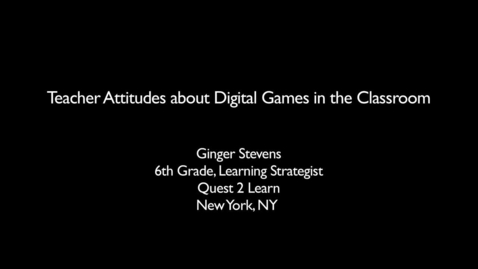 Thumbnail for entry Teaching with Games: GLPC Case Study: Ginger