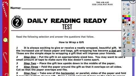 Thumbnail for entry READING TEST Friday, December 4