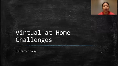 Thumbnail for entry Virtual At Home Challenges 3-5