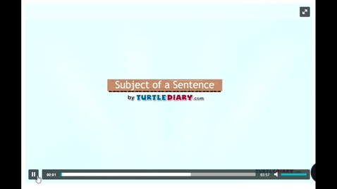 Thumbnail for entry Turtle Diary: Subject of a Sentence