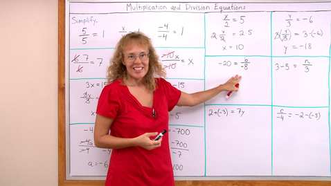 Thumbnail for entry Multiplication and division equations ( pre-algebra / 7th grade math)