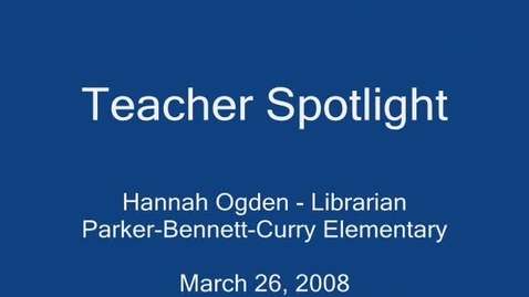 Thumbnail for entry Bowling Green Teacher Spotlight