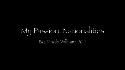Thumbnail for entry Nationalities