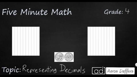 Thumbnail for entry 4th Grade Math Representing Decimals