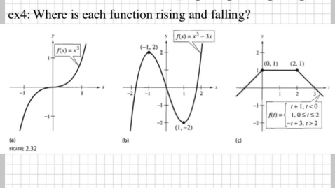 Thumbnail for entry How do you know where the function is increasing, decreasing, or is staying constant?