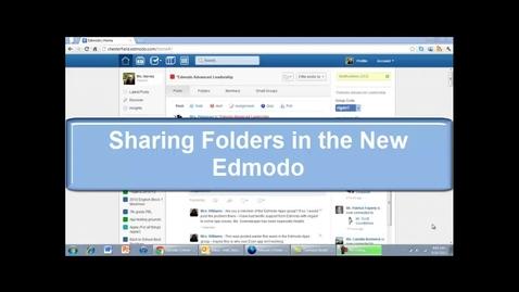 Thumbnail for entry How to share edmodo folders