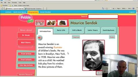 Thumbnail for entry Maurice Sendak Timeline