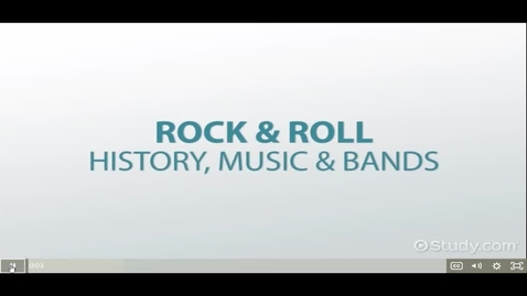 Thumbnail for entry Brief History of Rock