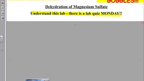 Thumbnail for entry Dehydration of Magnesium Sulfate