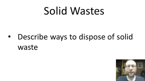 Thumbnail for entry Solid Waste