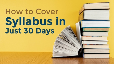 Thumbnail for entry How To Cover Syllabus in 30 days Before Exams? | 1 Month Study Plan for Board Exams | Letstute