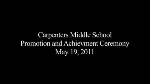 Thumbnail for entry 2010-2011 Promotion Ceremony
