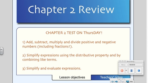 Thumbnail for entry Chapter 2 Review (Algebra 1)