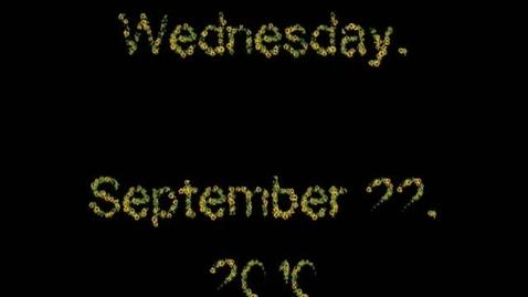 Thumbnail for entry Wednesday, September 22, 2010