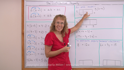 Thumbnail for entry The Distributive Property (pre-algebra)