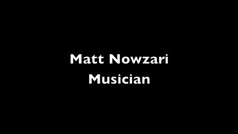 Thumbnail for entry Matt Nowzari: Bedroom Musician
