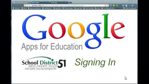 Thumbnail for entry Signing In to Google Apps (staff)