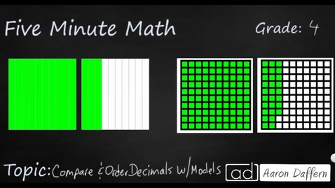 Thumbnail for entry 4th Grade Math Compare and Order Decimals with Models