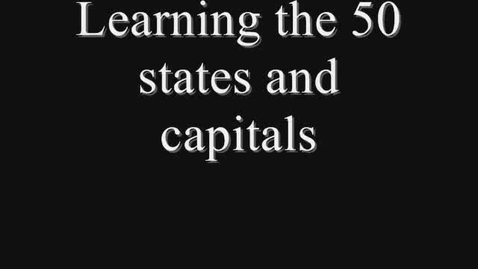 Thumbnail for entry Learn 50 states and capitals
