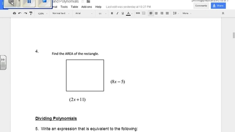 Thumbnail for entry SOL Review Polynomials Question 4 Multiplying Polynomials