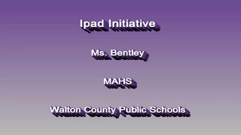 Thumbnail for entry Ipad Initiative High School Bentley