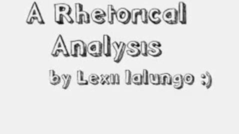 Thumbnail for entry Rhetorical Analysis of The Corporation