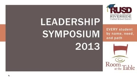 Thumbnail for entry Leadership Symposium 2013: Dr. Millers presentation
