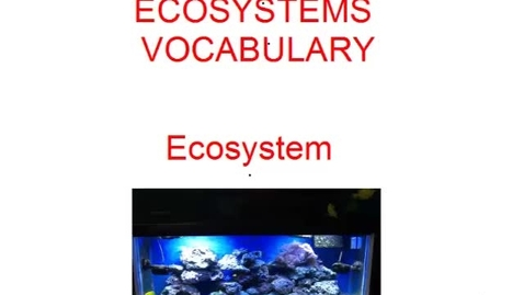 Thumbnail for entry audio only Ecosystems Vocab