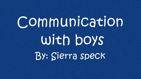 Thumbnail for entry Communication