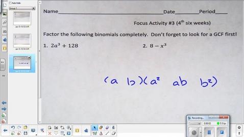 Thumbnail for entry Variation lesson pt 2   1-12-15