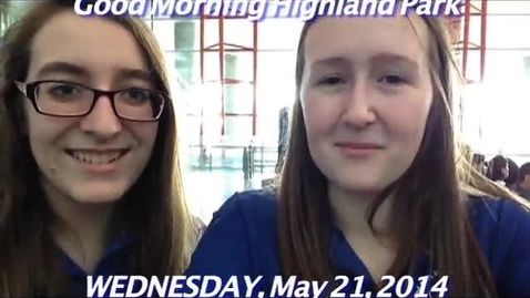 Thumbnail for entry Wednesday, May 21, 2014