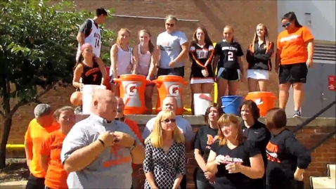 Thumbnail for entry MHS staff face ALS ice bucket challenge