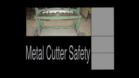 Thumbnail for entry Mr. Pantos Metal Cutter Safety