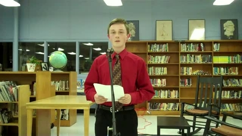 Thumbnail for entry Vance Middle School Oratorical Contest_Seth