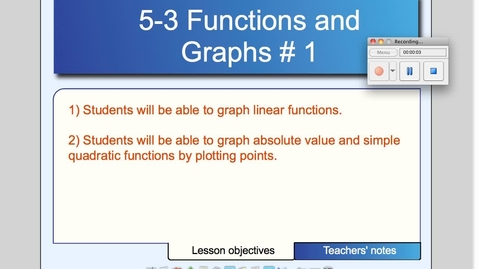 Thumbnail for entry 5-3 Graphs of Functions