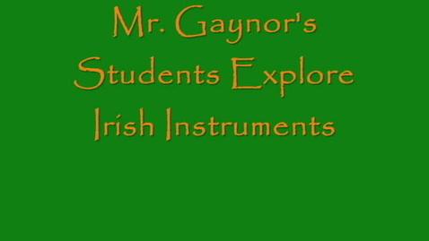 Thumbnail for entry Irish Instrument Exploration