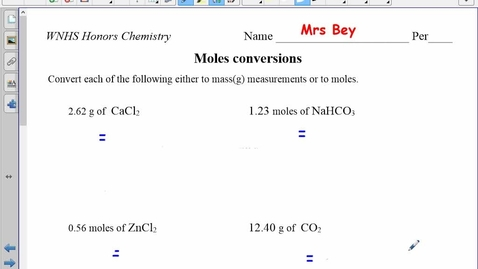 Thumbnail for entry Mole Conversions WS LIVING ANSWER KEY