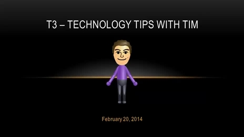 Thumbnail for entry T3 Video - February 20, 2014